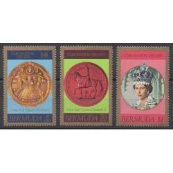 Bermudes - 1978 - No 350/352 - Monnaies, billets ou médailles - Royauté - Principauté