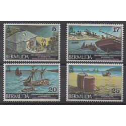 Bermuda - 1975 - Nb 317/320 - Various Historics Themes
