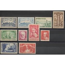 France - Année complète - 1935 - No 299/308