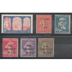 France - année complète - 1930 - No 263/268