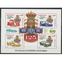 Monaco - Blocs et feuillets - 2015 - No F2986 - Voitures