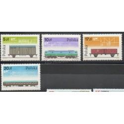 Pologne - 1985 - No 2805/2808 - Trains