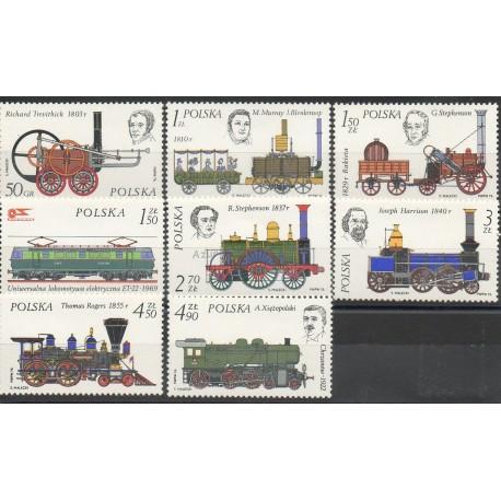 Pologne - 1976 - No 2262/2269 - Trains