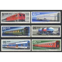 Allemagne orientale (RDA) - 1973 - No 1539/1544 - Trains