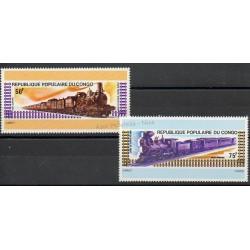 Congo (République du) - 1975 - No PA 206/PA 207 - Trains