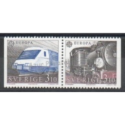 Sweden - 1988 - Nb 1478/1479 - Trains