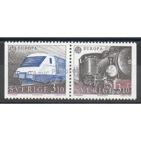 Suède - 1988 - No 1478/1479 - Trains