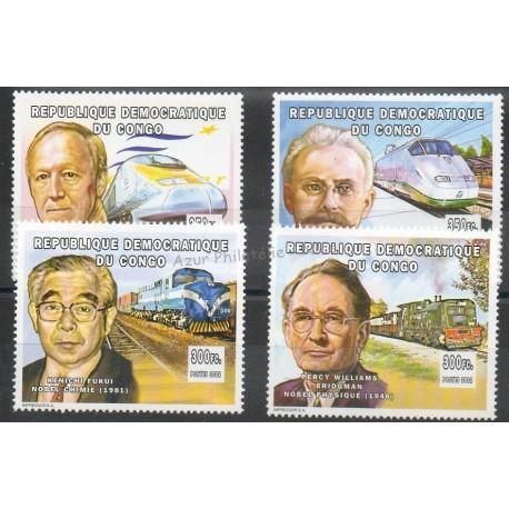 Congo (République démocratique du) - 2002 - No 1558/1561 - Trains
