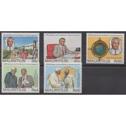 Maurice - 1990 - No 735/739 - Célébrités