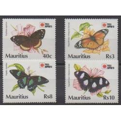 Maurice - 1991 - No 765/768 - Insectes - Philatélie