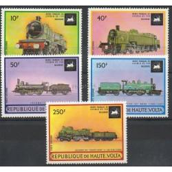 Haute-Volta - 1973 - No PA155/PA159 - Trains