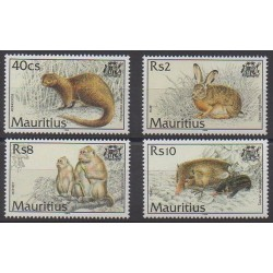 Maurice - 1994 - No 809/812 - Mammifères