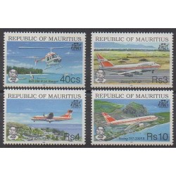 Maurice - 1993 - Nb 795/798 - Planes - Helicopters