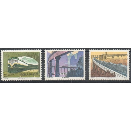 Timbres - Thème trains - Chine - 1979 - No 2278/2280