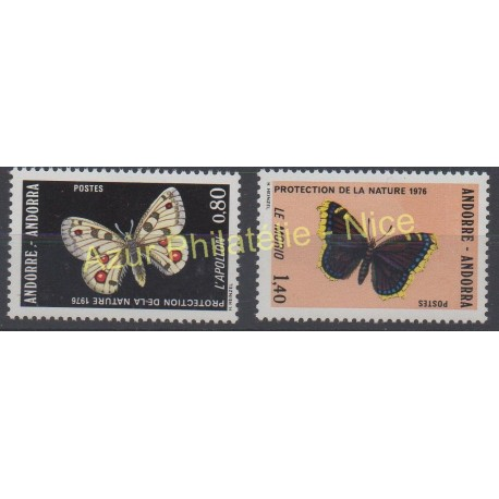 French Andorra - 1976 - Nb 258/259 - Butterflies