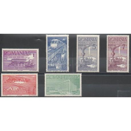 Roumanie - 1939 - No 581/586 - Trains
