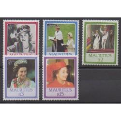 Maurice - 1986 - No 650/654 - Royauté - Principauté
