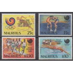 Maurice - 1988 - No 703/706 - Jeux Olympiques d'été