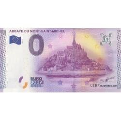 Billet souvenir - Abbaye du Mont Saint Michel - 2015