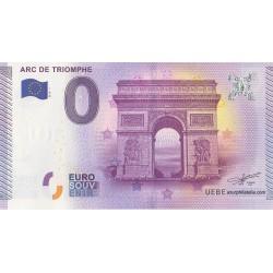 Billet souvenir - Arc de triumphe - 2015