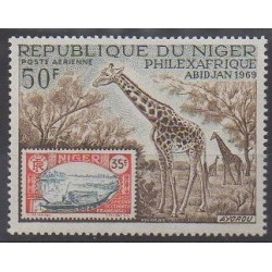 Niger - 1969 - Nb PA104 - Stamps on stamps - Philately