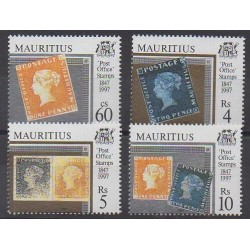 Maurice - 1997 - Nb 885/888 - Stamps on stamps