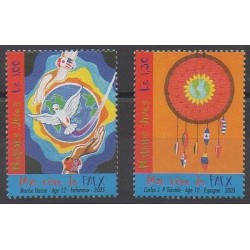 Nations Unies (ONU - Genève) - 2005 - No 537/538 - Dessins d'enfants