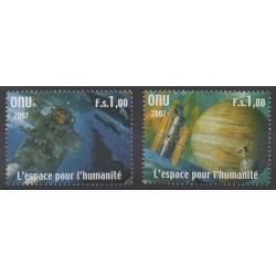 Nations Unies (ONU - Genève) - 2007 - No 595/596 - Espace