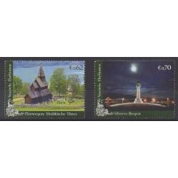 Nations Unies (ONU - Vienne) - 2011 - No 735/736 - Monuments