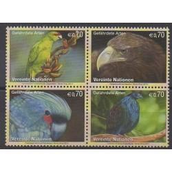 Nations Unies (ONU - Vienne) - 2011 - No 740/743 - Oiseaux - Espèces menacées - WWF