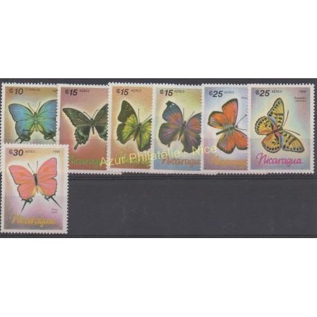 Nicaragua - 1986 - Nb 1432 - PA1165/PA1170 - Butterflies