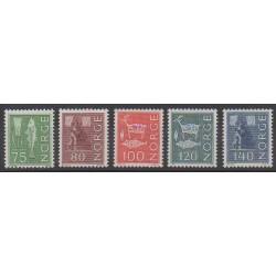 Norvège - 1972 - No 589/593