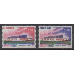 Norvège - 1973 - No 618/619 - Service postal