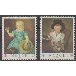 Norvège - 1979 - No 749/750 - Enfance - Peinture