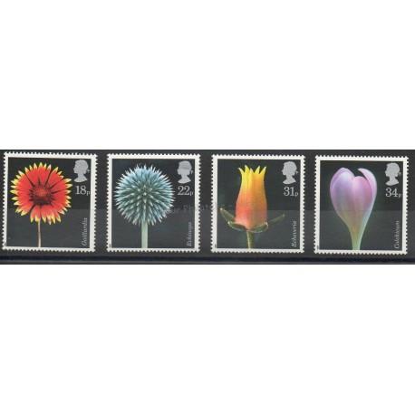 Grande-Bretagne - 1987 - No 1256/1259 - Fleurs
