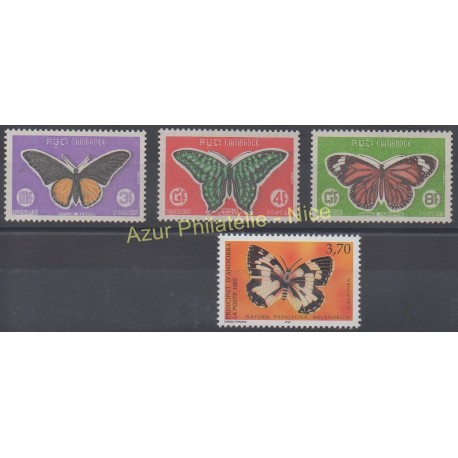 Cambodge - 1969 - No 225/227 - Papillons