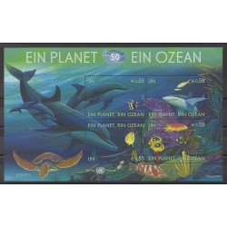 Nations Unies (ONU - Vienne) - 2010 - No 655/658 - Mammifères - Animaux marins - Reptiles