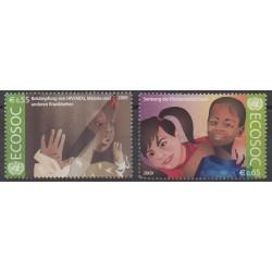 Nations Unies (ONU - Vienne) - 2009 - No 615/616 - Santé ou Croix-Rouge