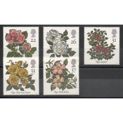 Great Britain - 1991 - Nb 1551/1555 - Roses
