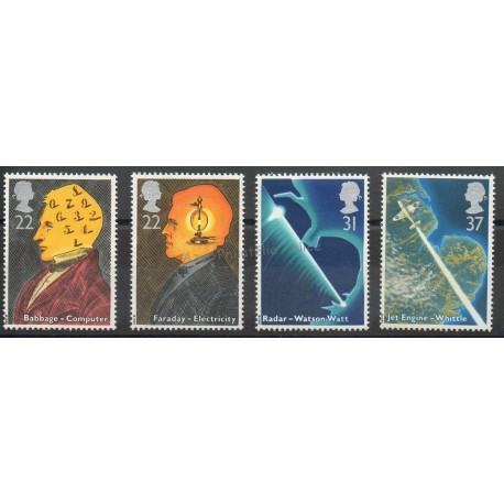 Grande-Bretagne - 1991 - No 1526/1529 - Sciences et techniques