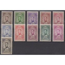 Indochine - 1936 - No 182/192 - Neufs avec charnière