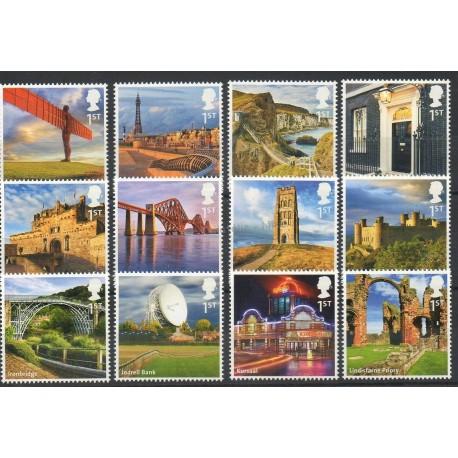 Great Britain - 2011 - Nb 3546/3557 - Bridges