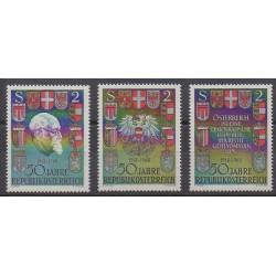 Autriche - 1968 - No 1103/1105 - Armoiries - Histoire