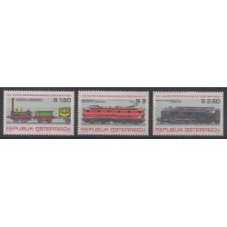 Autriche - 1977 - No 1389/1391 - Chemins de fer