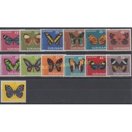 Suriname - 1972 - Nb PA 40 / PA 52 - Butterflies