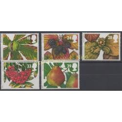 Great Britain - 1993 - Nb 1692/1696 - Fruits