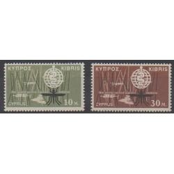 Chypre - 1962 - No 192/193 - Santé ou Croix-Rouge
