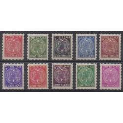Guiana - 1947 - Nb T22/T31 - Mint hinged
