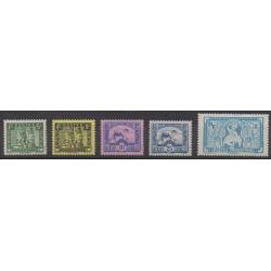 Indochine - 1941 - No 214/218 - Neufs avec charnière