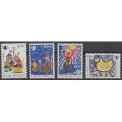 Belgique - 1969 - No 1492/1495 - Dessins d'enfants